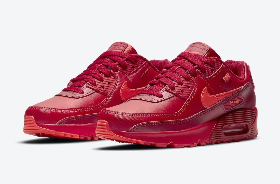 """ナイキ エア マックス 90 """"シカゴシティ スペシャル"""" / GS Nike-Air-Max-90-GS-Chicago-DH0149-600-pair"""