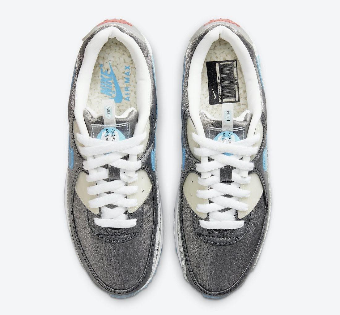 """ナイキ ウィメンズ エア マックス 90 """"おにぎり"""" Nike-Air-Max-90-Rice-Ball-DD5483-010-top"""