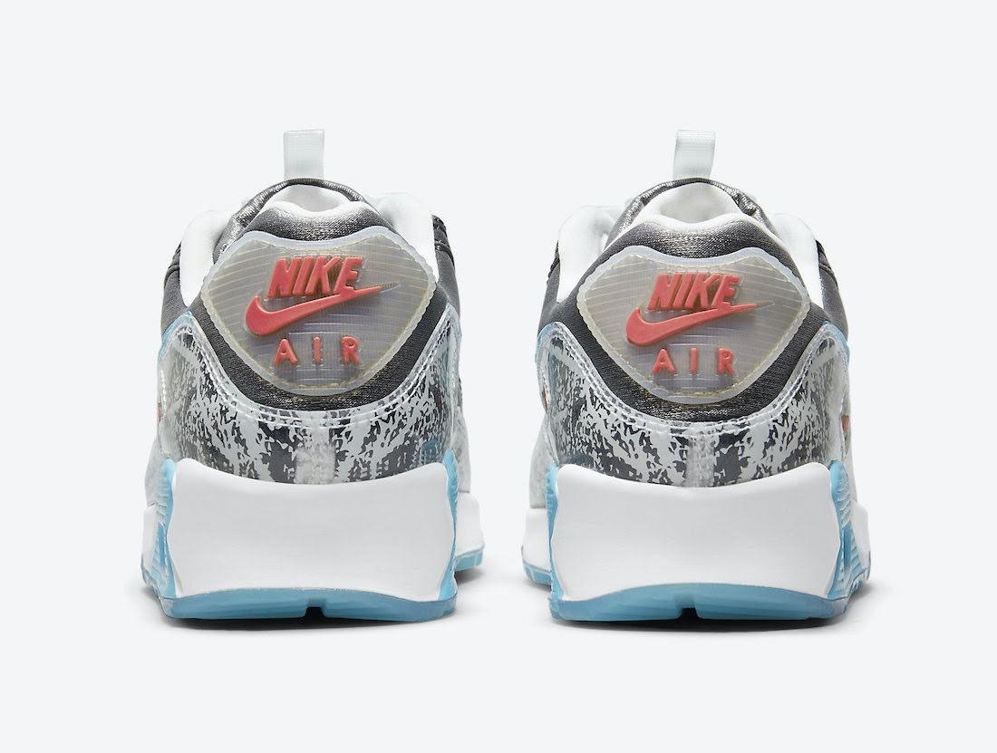 """ナイキ ウィメンズ エア マックス 90 """"おにぎり"""" Nike-Air-Max-90-Rice-Ball-DD5483-010-heel"""