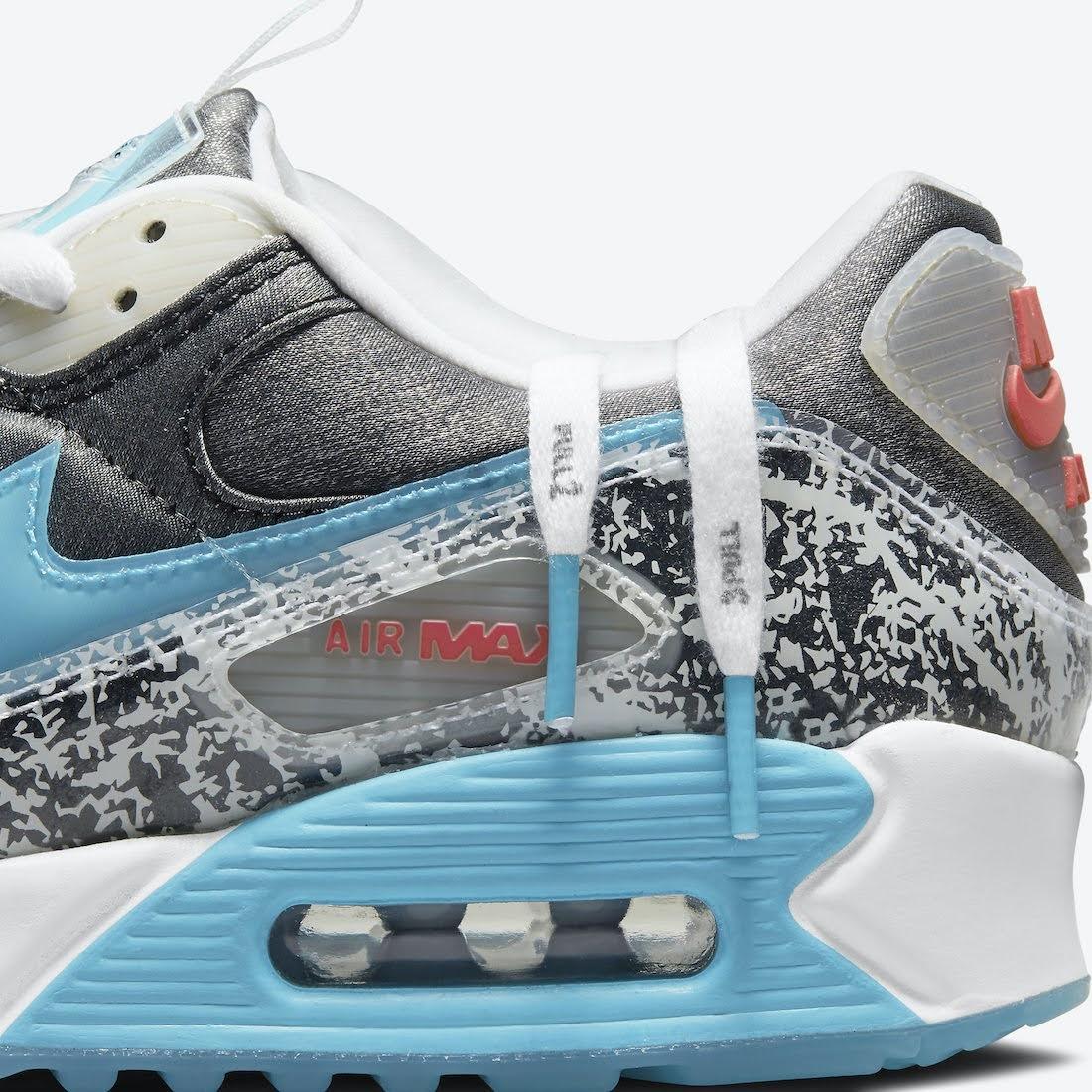 """ナイキ ウィメンズ エア マックス 90 """"おにぎり"""" Nike-Air-Max-90-Rice-Ball-DD5483-010-side-shoelace"""