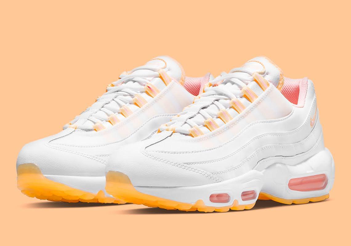 """ナイキ ウィメンズ エア マックス 95 """"メロン ティント"""" Nike-Air-Max-95-Melon-Tint-DJ1495-100-pair"""