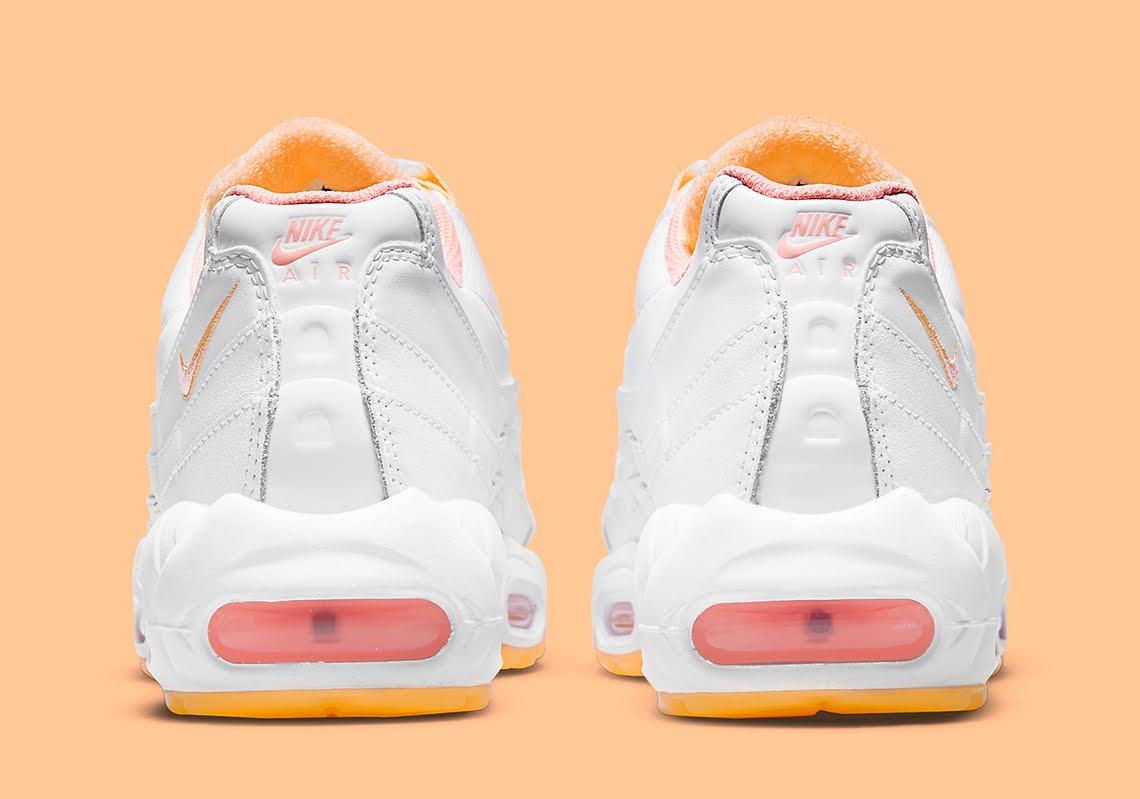 """ナイキ ウィメンズ エア マックス 95 """"メロン ティント"""" Nike-Air-Max-95-Melon-Tint-DJ1495-100-heel"""