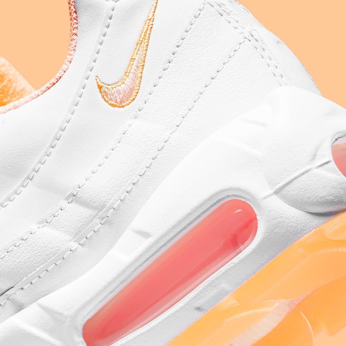 """ナイキ ウィメンズ エア マックス 95 """"メロン ティント"""" Nike-Air-Max-95-Melon-Tint-DJ1495-100-side-heel"""