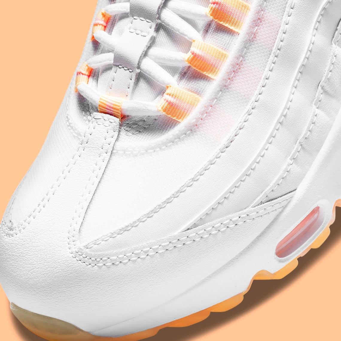 """ナイキ ウィメンズ エア マックス 95 """"メロン ティント"""" Nike-Air-Max-95-Melon-Tint-DJ1495-100-toe"""