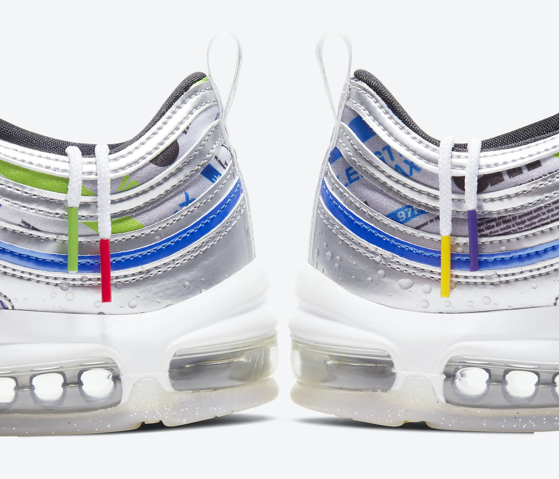 "Nike Air Max 97 SE ""Energy Jelly"" ナイキ エアマックス97 SE ""エネルギーゼリー"" Multicolor/Metallic Silver-Racer Blue-White-Black-Pure Platinum DD5480-902 main"