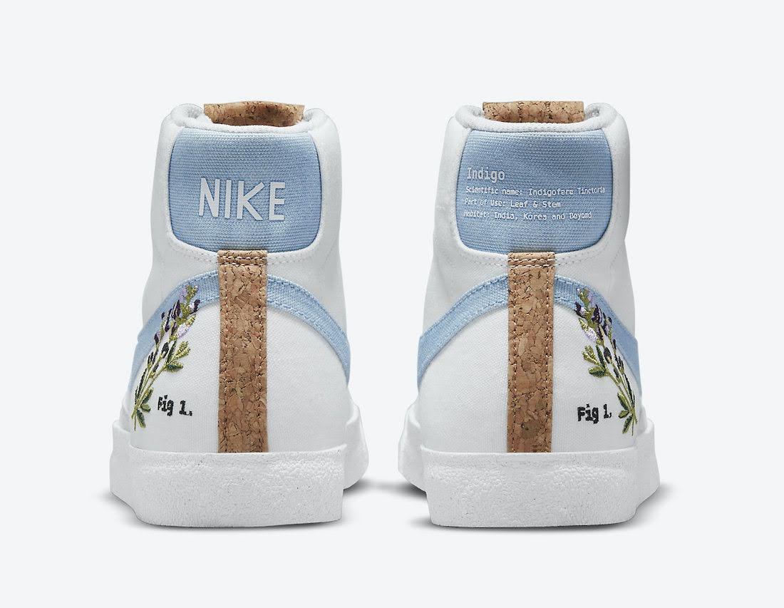 """ナイキ ブレーザー ミッド 77 """"インディゴ"""" Nike-Blazer-Mid-77-Indigo-DC9265-100-heel"""