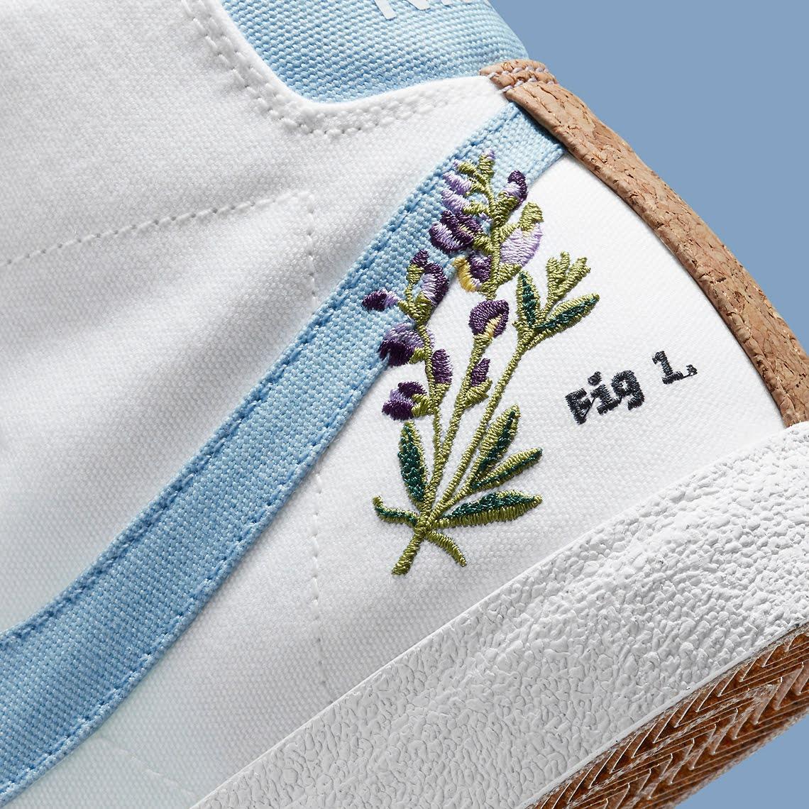 """ナイキ ブレーザー ミッド 77 """"インディゴ"""" Nike-Blazer-Mid-77-Indigo-DC9265-100-side-heel-closeup"""