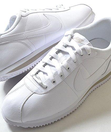 ナイキ コルテッツ オールホワイト 白 レザー スニーカー Nike Cortez All White Sneakers