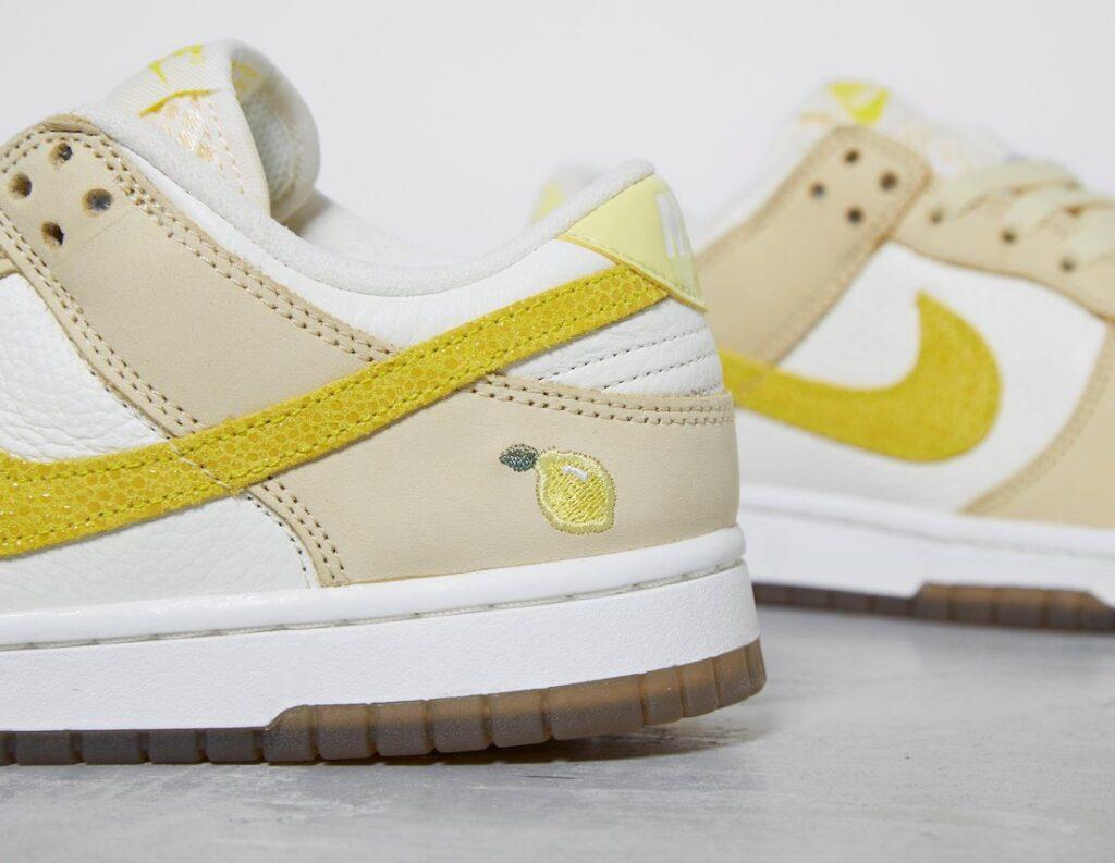 """ナイキ ウィメンズ ダンク ロー """"レモン ドロップ"""" Nike-Dunk-Low-Lemon-Drop-DJ6902-700-pair detail"""