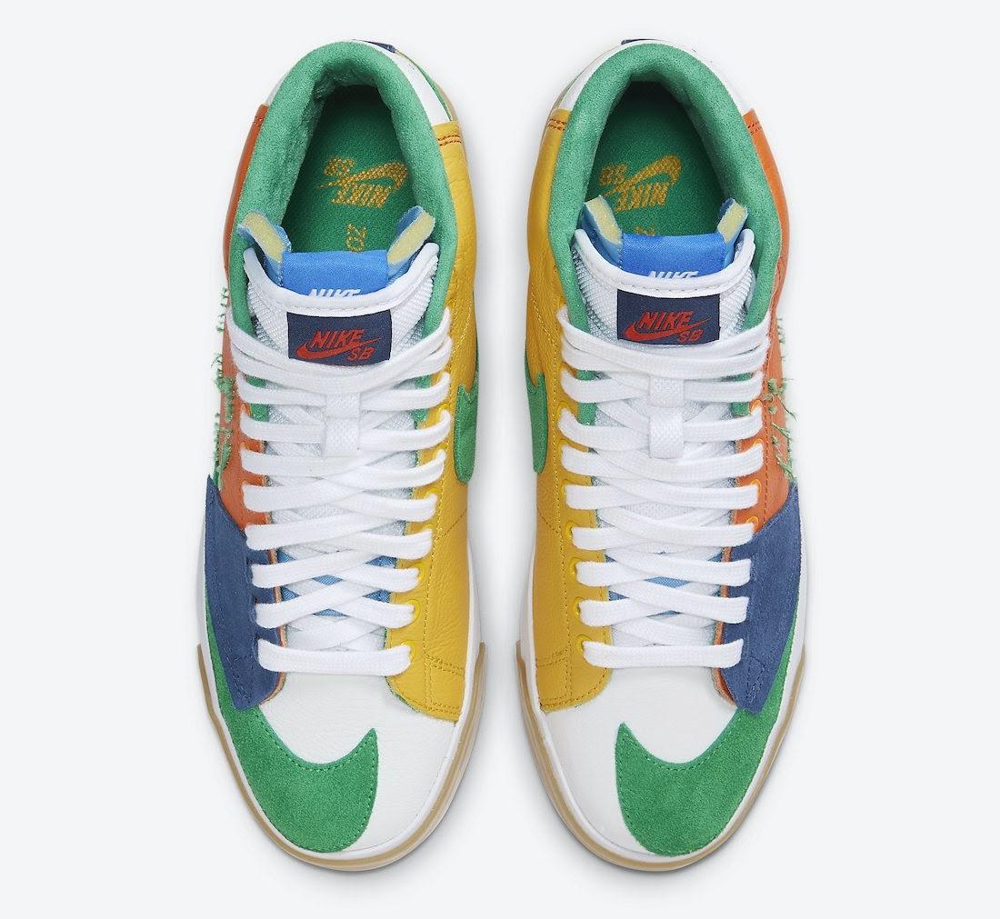 """ナイキ SB ブレーザー ミッド エッジ """"マルチカラー"""" Nike-SB-Blazer-Mid-Edge-Multi-Color-DA2189-800-top"""