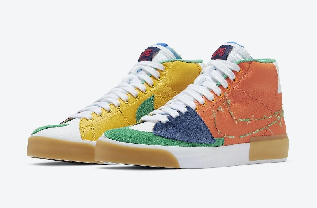 """ナイキ SB ブレーザー ミッド エッジ """"マルチカラー"""" Nike-SB-Blazer-Mid-Edge-Multi-Color-DA2189-800-pair"""