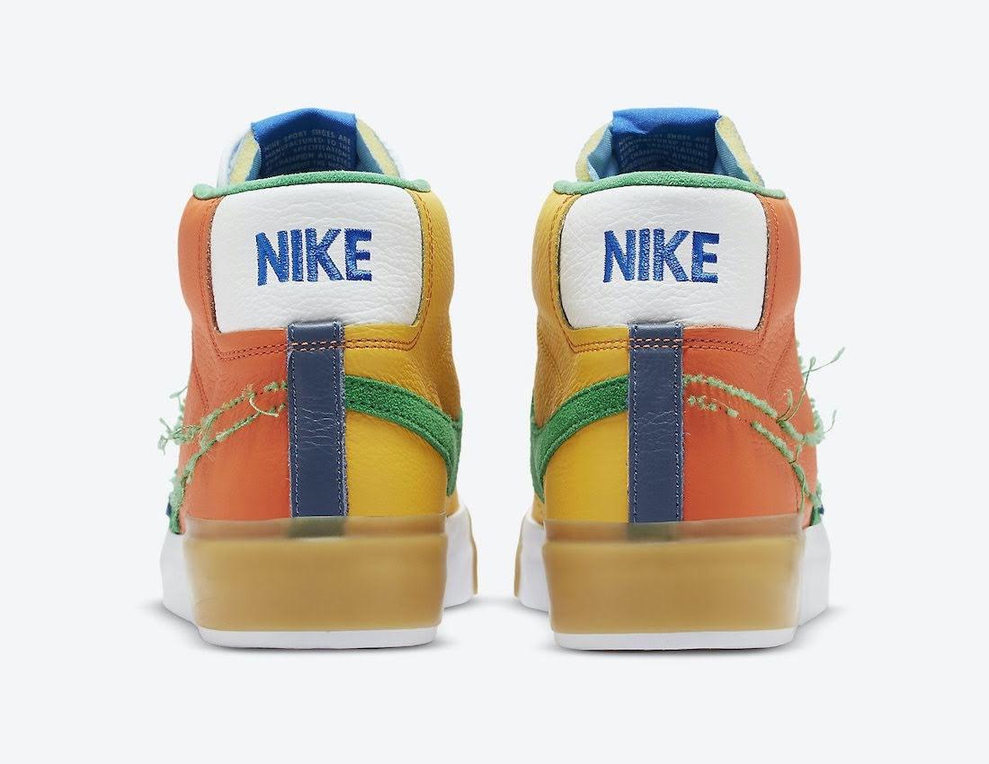 """ナイキ SB ブレーザー ミッド エッジ """"マルチカラー"""" Nike-SB-Blazer-Mid-Edge-Multi-Color-DA2189-800-heel"""