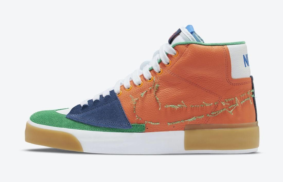"""ナイキ SB ブレーザー ミッド エッジ """"マルチカラー"""" Nike-SB-Blazer-Mid-Edge-Multi-Color-DA2189-800-side"""