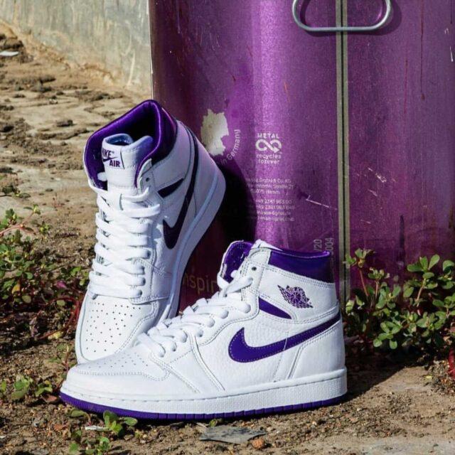 "nike Air Jordan 1 High ""Court Purple"" ナイキ ウィメンズ エア ジョーダン 1 ハイ ""コート パープル"" CU0449-151 detail main"