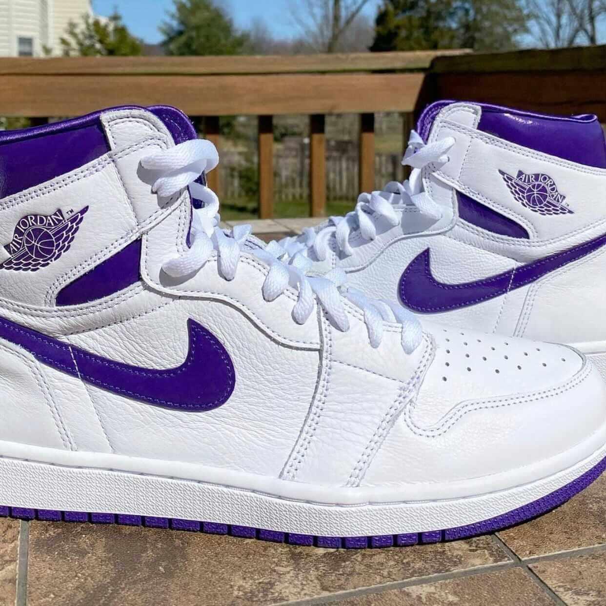 "nike Air Jordan 1 High ""Court Purple"" ナイキ ウィメンズ エア ジョーダン 1 ハイ ""コート パープル"" CU0449-151 detail"