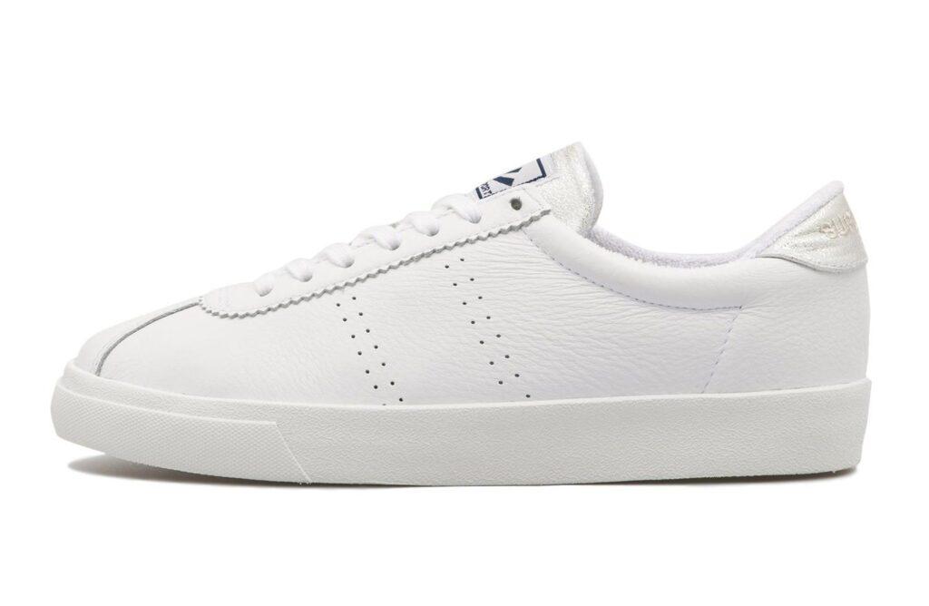スペルガ オールホワイト スニーカー 白 レディース SPERGA 2483 White Sneakers WHT-Gry Slv915