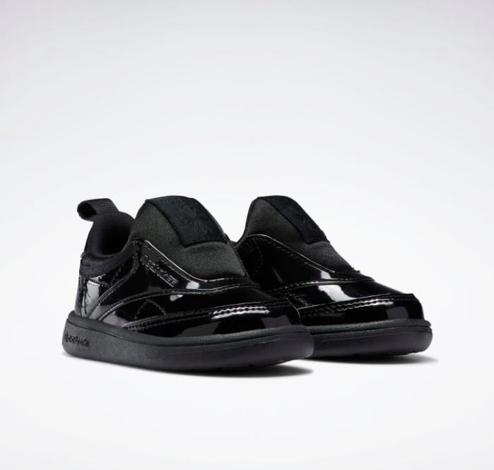 リーボック × カーディビー (トドラー)/ クラブ シー スリップオン (ブラック) Reebok_Club_C_Cardi_Slip_on_Toddler_Black_H02521-pair