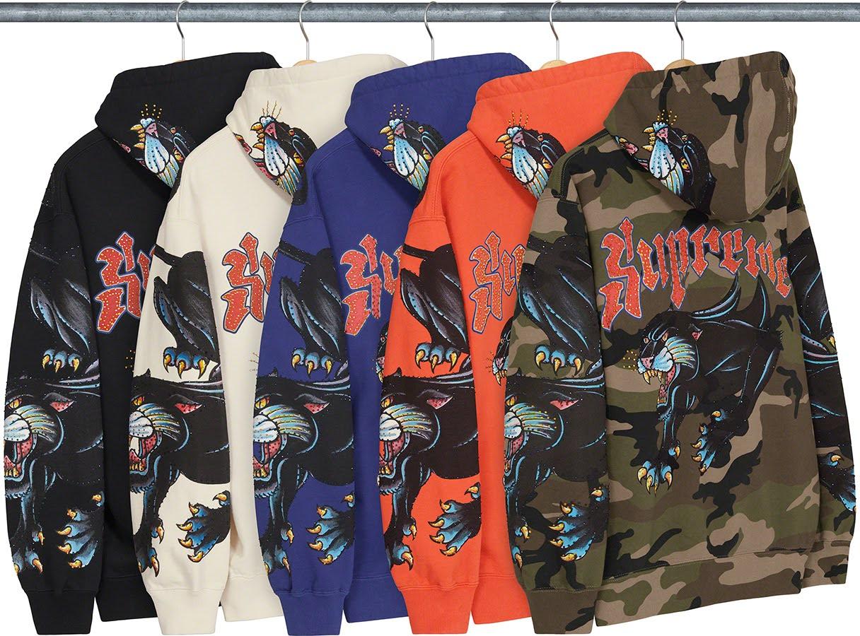 シュプリーム 2021年 春夏 新作 スウェットシャツ Supreme-2021SS-Sweatshirts-panther-zip-up-hooded-sweatshirt-5-colors