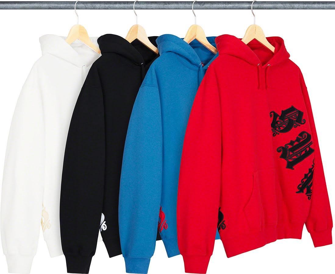 シュプリーム 2021年 春夏 新作 スウェットシャツ Supreme-2021SS-sweatshirts-old-english-wrap-hooded-sweatshirt-4-colors
