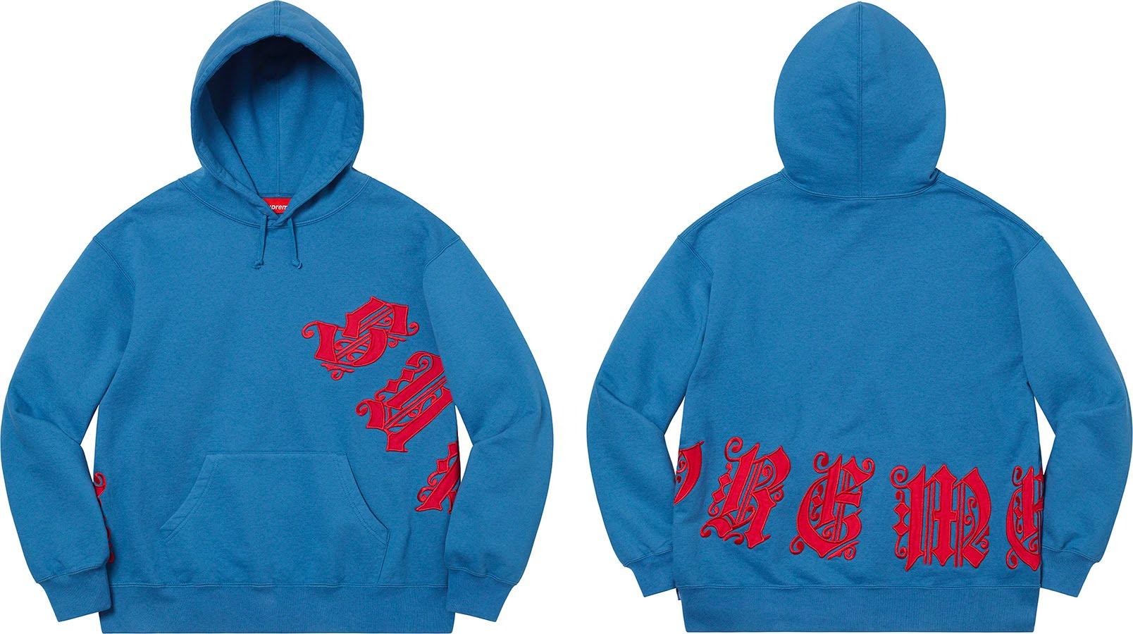 シュプリーム 2021年 春夏 新作 スウェットシャツ Supreme-2021SS-sweatshirts-old-english-wrap-hooded-sweatshirt