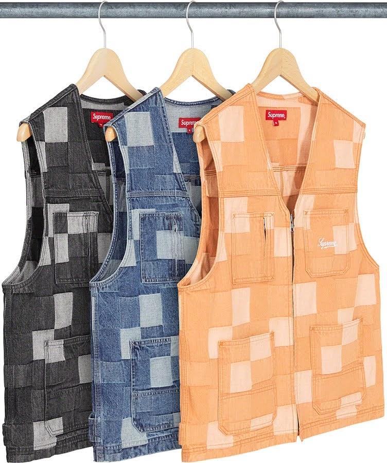 シュプリーム 2021年 春夏 新作 ジャケット Supreme 2021ss jacket 一覧 patched-denim-vest