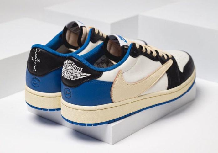 "Travis Scott × Fragment x Nike Air Jordan 1 Low OG ""UNC"" トラヴィス スコット × ナイキ エア ジョーダン 1 ロー OG ""UNC"" DM7866-140 detail pair"