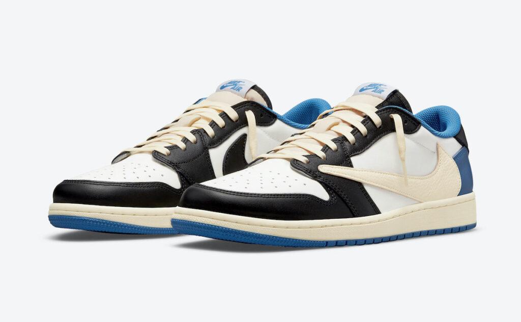 トラヴィススコット フラグメント ナイキ コラボ エア ジョーダン 1 ロー Travis-Scott-Fragment-Air-Jordan-1-Low-DM7866-140-pair