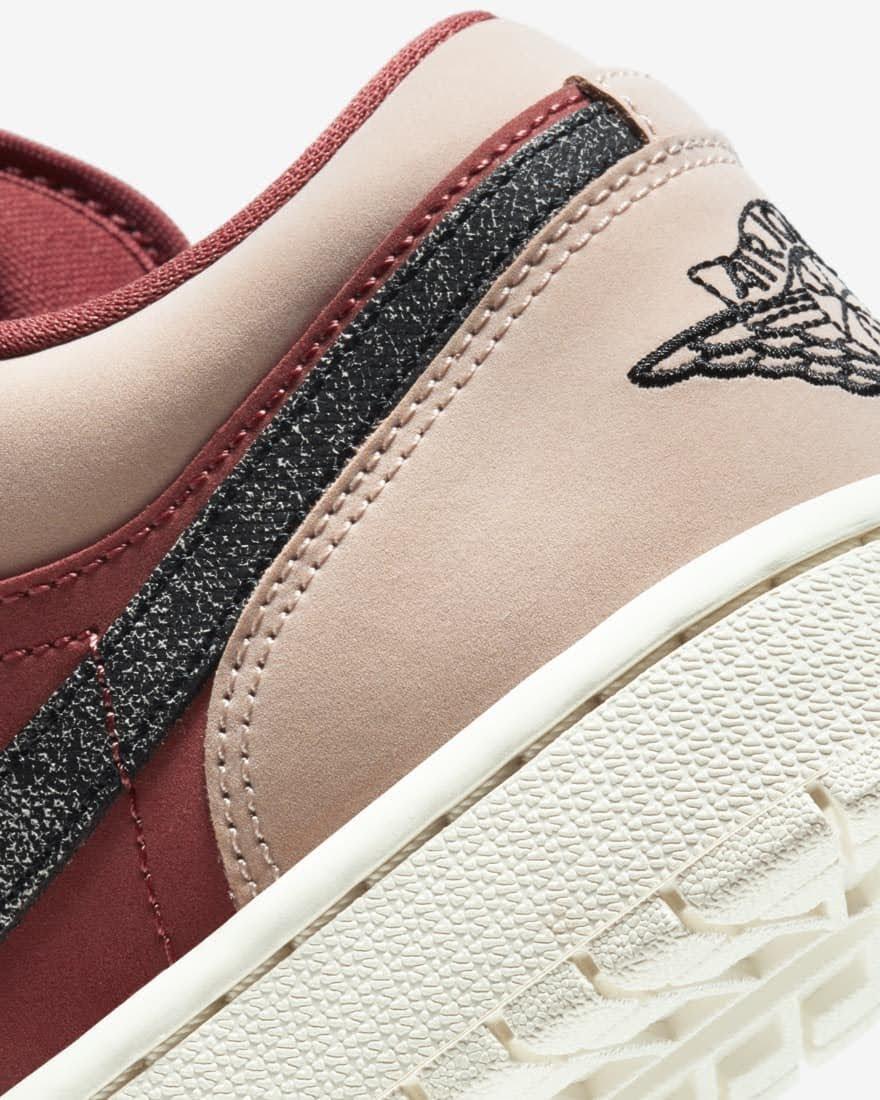 """ナイキ ウィメンズ エア ジョーダン 1 ロー """"キャニオン ラスト"""" Nike-WMNS-Air-Jordan-1-Low-Canyon-Rust-DC0774-602-side-heel-closeup"""