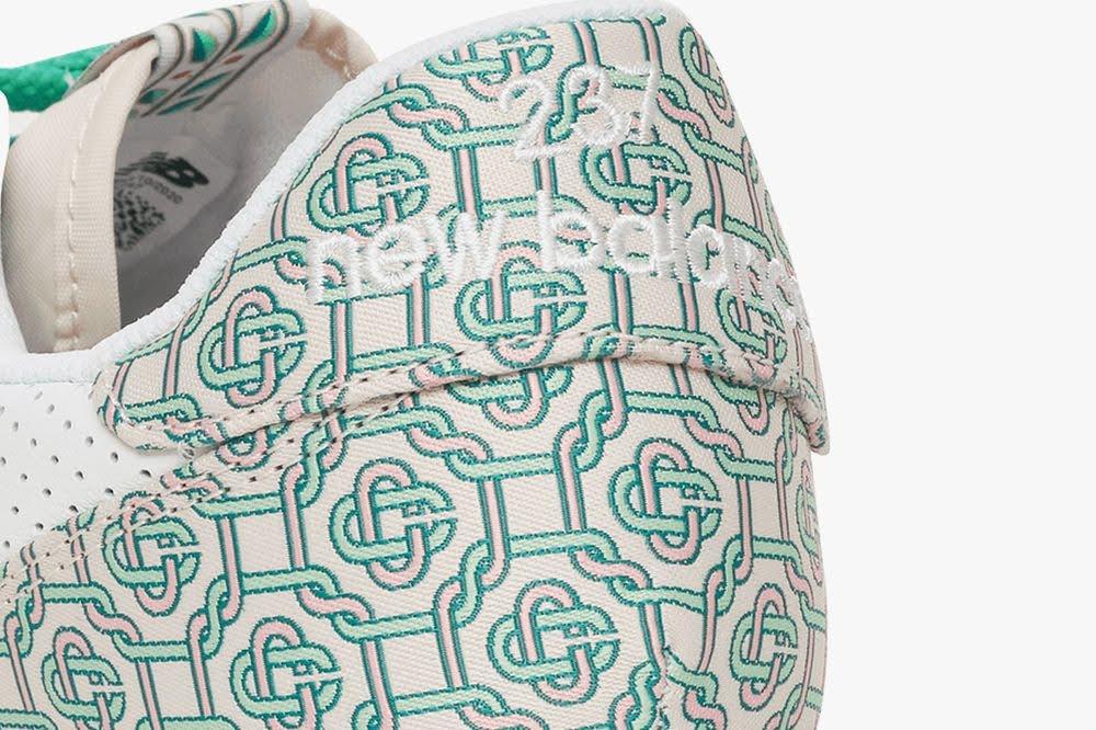 カサブランカ ニューバランス コラボ 327 モノグラム エディション casablanca-x-new-balance-327-monogram-white-green-back-detail