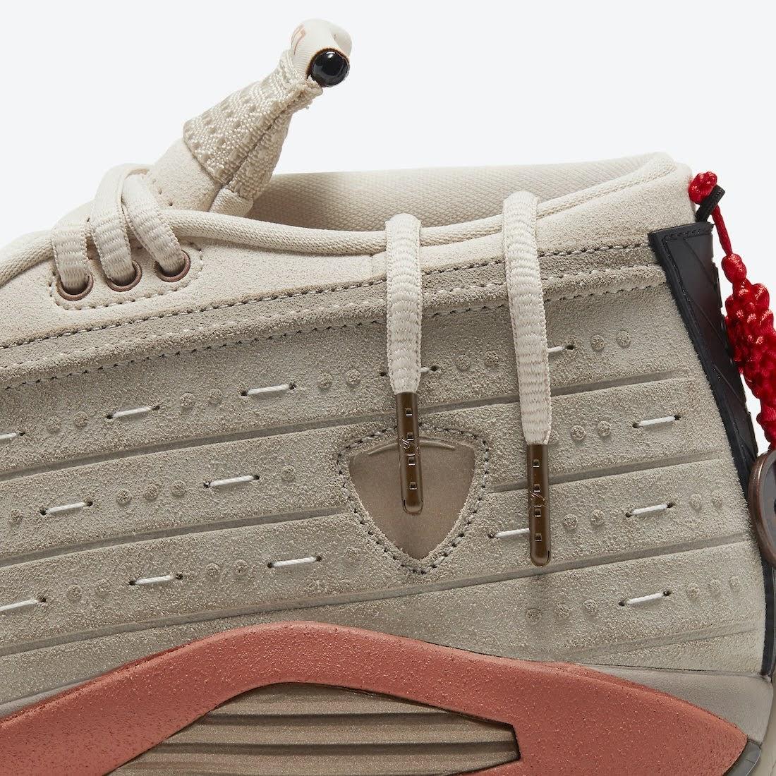 """クロット × ナイキ エア ジョーダン 14 ロー """"テラコッタ"""" clot-x-nike-air-jordan-14-low-terracotta-dc9857-200-shoelace"""