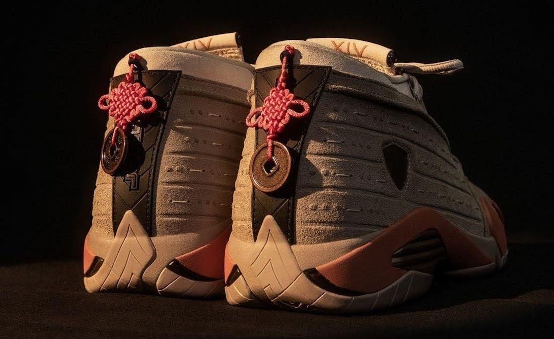 """クロット × ナイキ エア ジョーダン 14 ロー """"テラコッタ"""" clot-x-nike-air-jordan-14-low-terracotta-dc9857-200-pair-heel"""