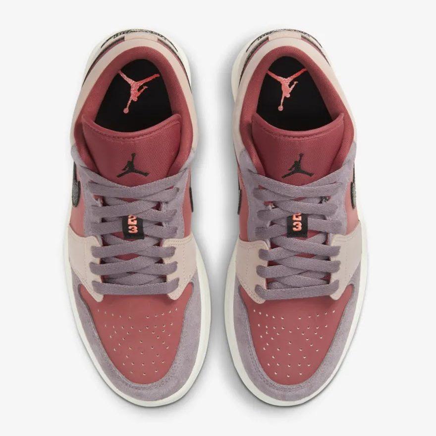 """ナイキ ウィメンズ エア ジョーダン 1 ロー """"キャニオン ラスト"""" Nike-WMNS-Air-Jordan-1-Low-Canyon-Rust-DC0774-602-top"""