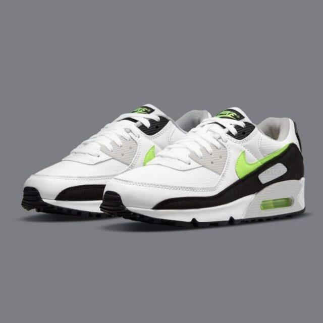 """ナイキ エア マックス 90 """"ホットライム"""" Nike-Air-Max-90-Hot-Lime-CZ1846-100-pair"""