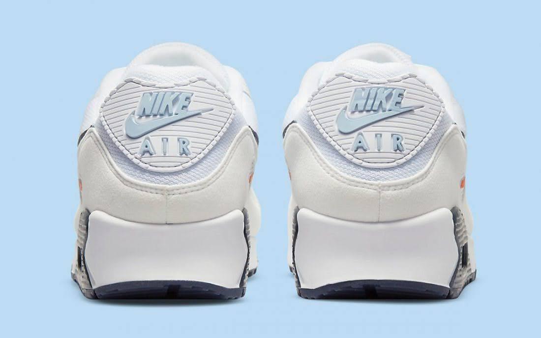 """ナイキ エア マックス 90 """"ネイビー/ オフホワイト"""" nike-air-max-90-navy-off-white-DM2820-100-DM2820-100-heel"""