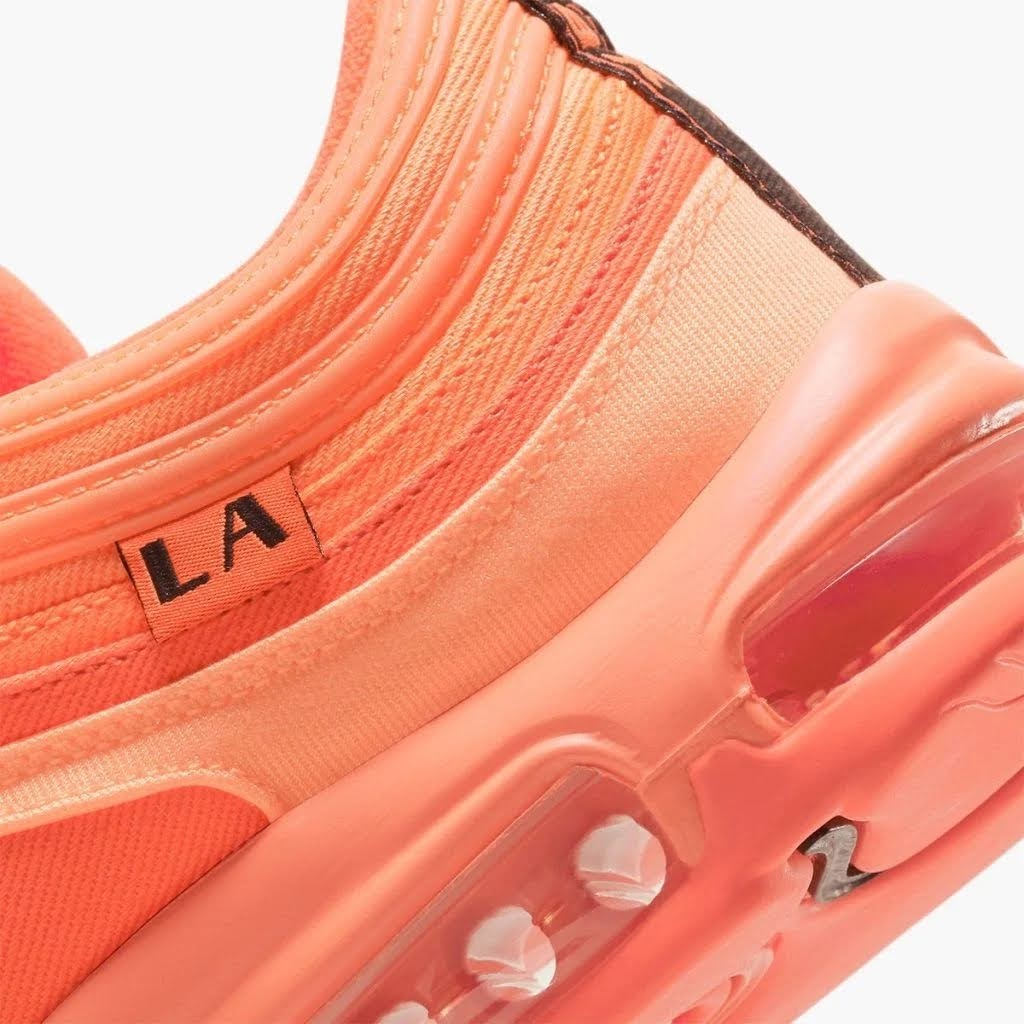 """ナイキ エア マックス 97 """"ロサンゼルス"""" nike-air-max-97-los-angeles-orange-dh0144-800-dh0148-800-side-heel"""