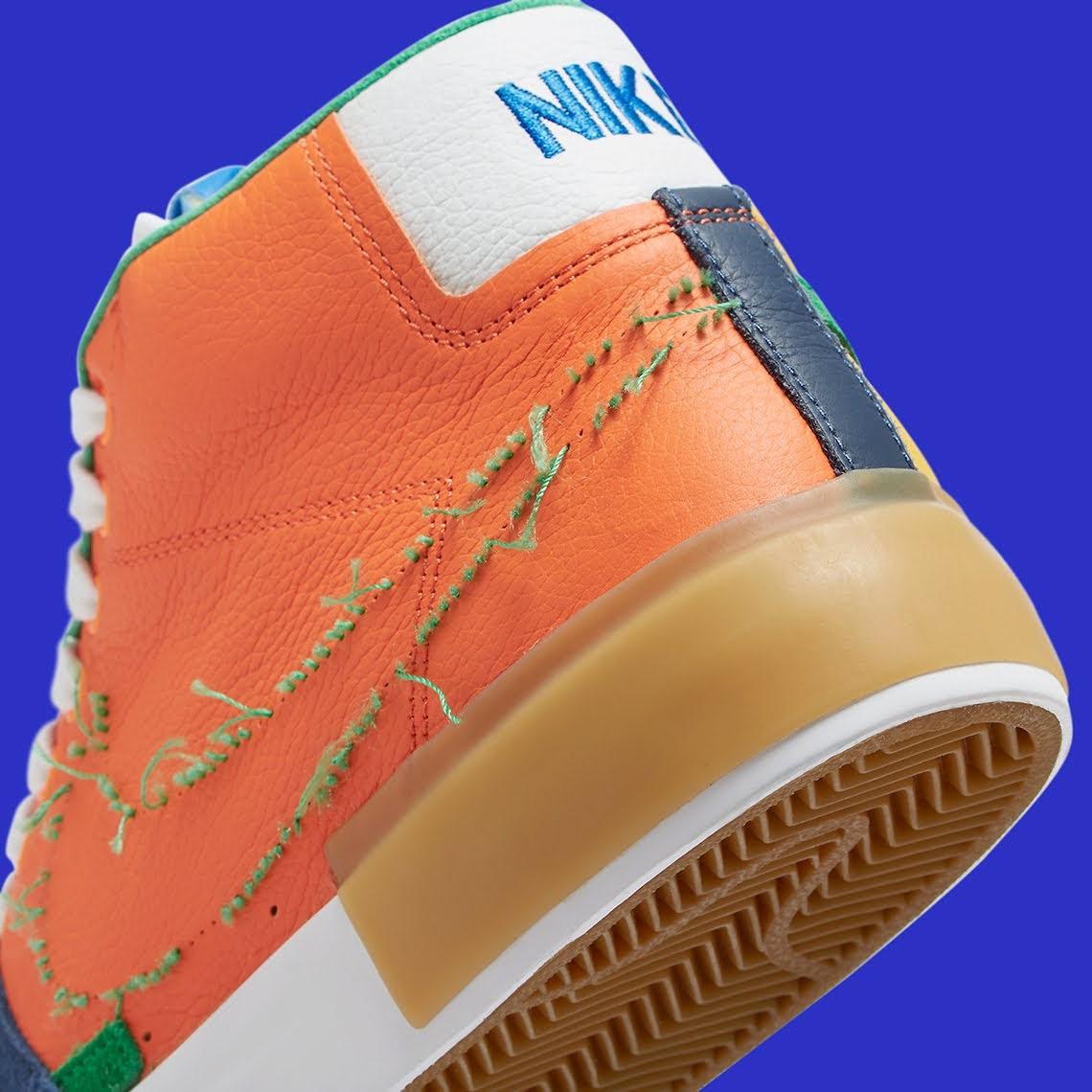 """ナイキ SB ブレーザー ミッド エッジ """"マルチカラー"""" Nike-SB-Blazer-Mid-Edge-Multi-Color-DA2189-800-side-heel-closeup"""