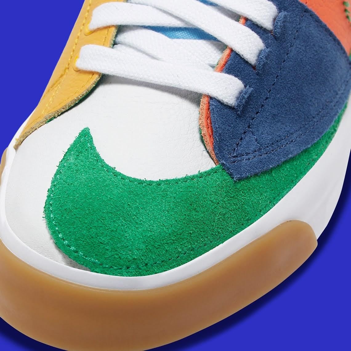 """ナイキ SB ブレーザー ミッド エッジ """"マルチカラー"""" Nike-SB-Blazer-Mid-Edge-Multi-Color-DA2189-800-toe"""