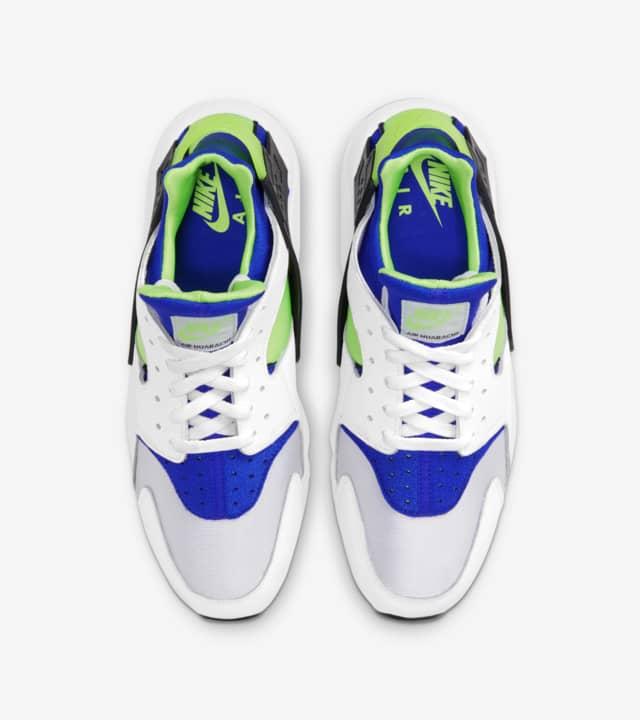 """ナイキ エア ハラチ """"スクリーム グリーン"""" Nike-Air-Huarache-Scream-Green-DD1068-100-main pair"""