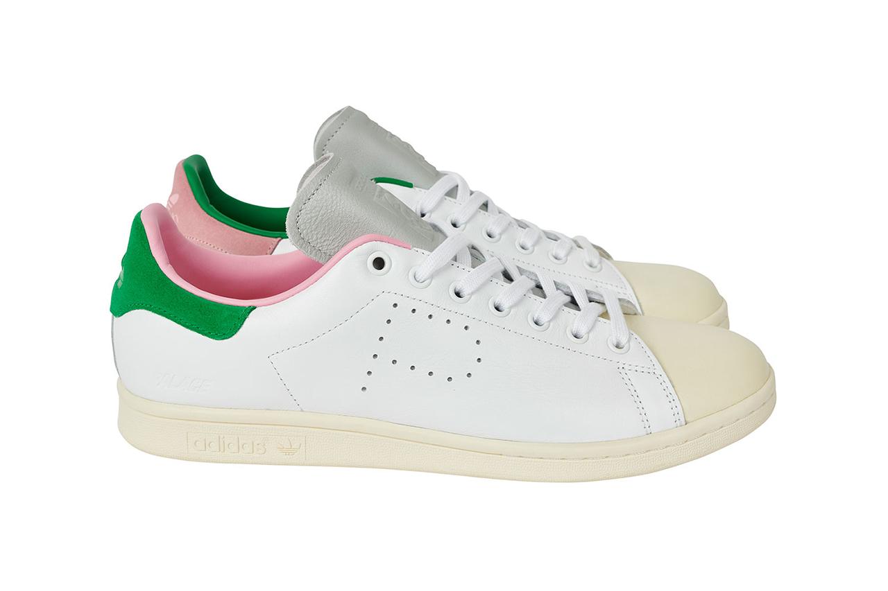 """パレス スケートボード × アディダス オリジナルス スタンスミス """"ホワイト/ クリーム"""" Palace-Skateboards-adidas-Originals-Stan-Smith-White-Cream-pair"""
