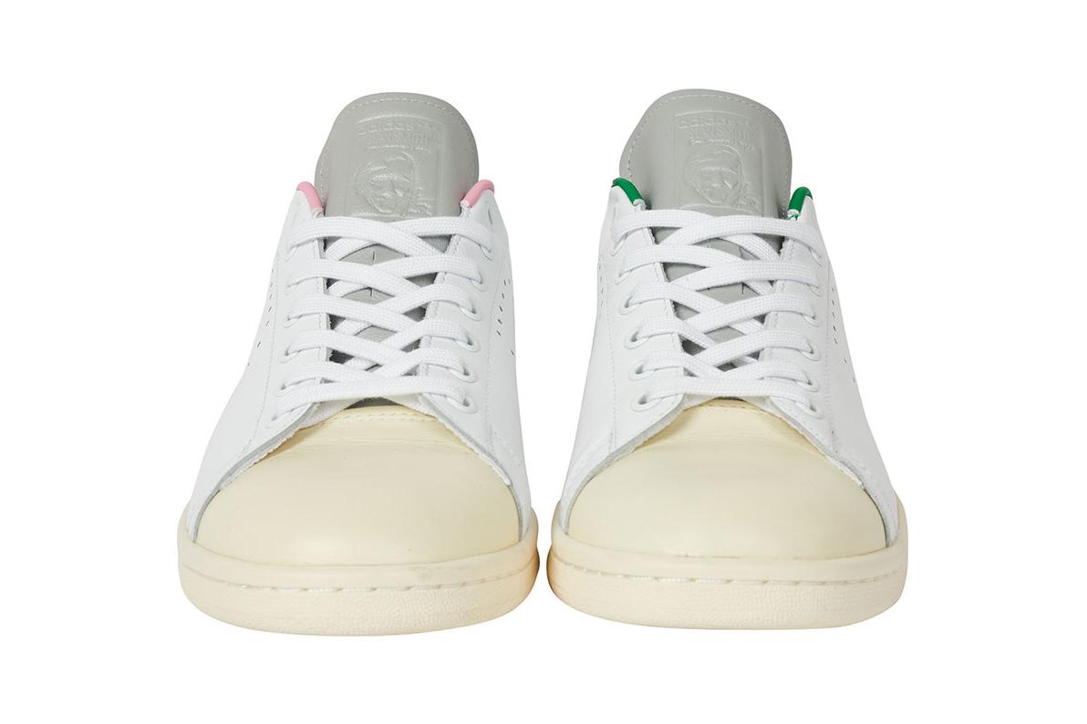 """パレス スケートボード × アディダス オリジナルス スタンスミス """"ホワイト/ クリーム"""" Palace-Skateboards-adidas-Originals-Stan-Smith-White-Cream-pair-front"""