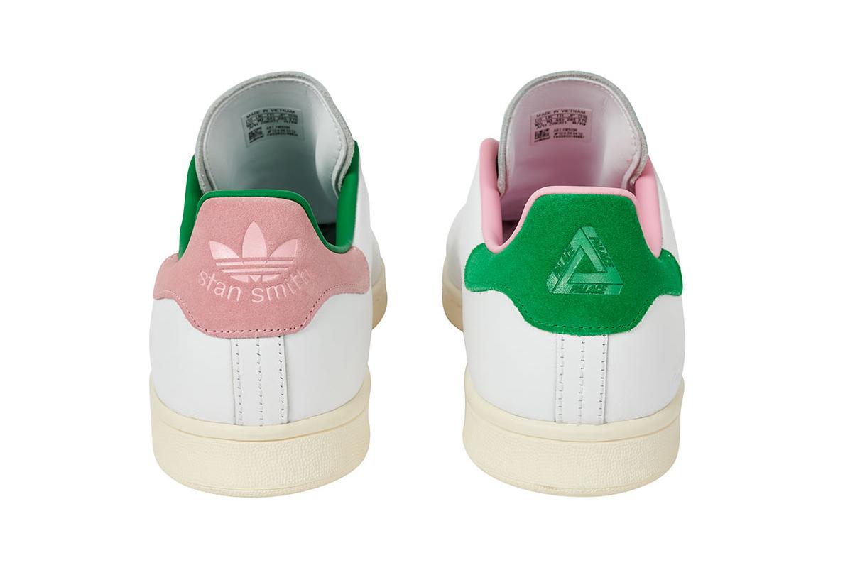 """パレス スケートボード × アディダス オリジナルス スタンスミス """"ホワイト/ クリーム"""" Palace-Skateboards-adidas-Originals-Stan-Smith-White-Cream-pair-back"""