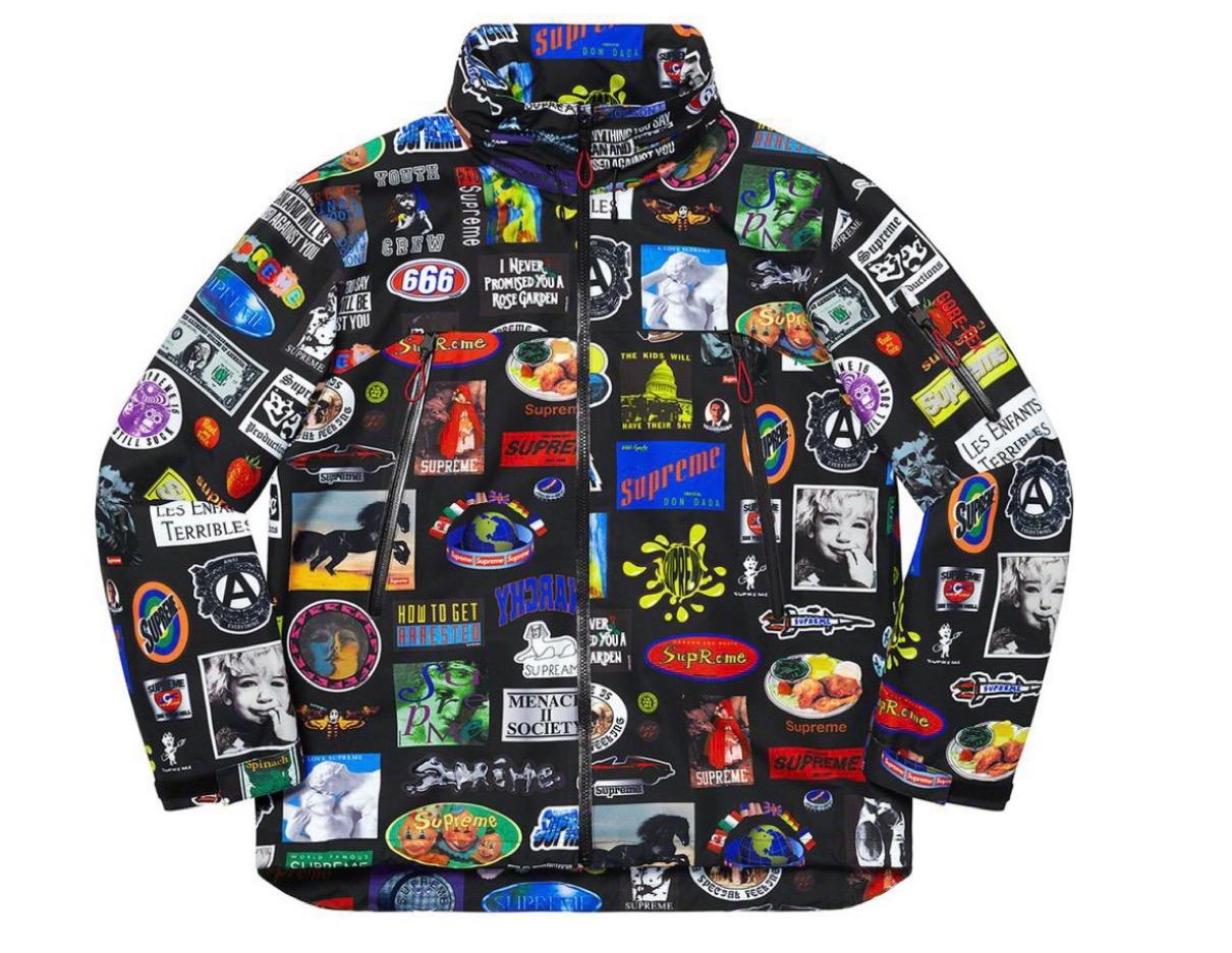 シュプリーム 2021年 春夏 新作 Supreme-2021ss-week-1GORE-TEX Stickers Shell Jacket