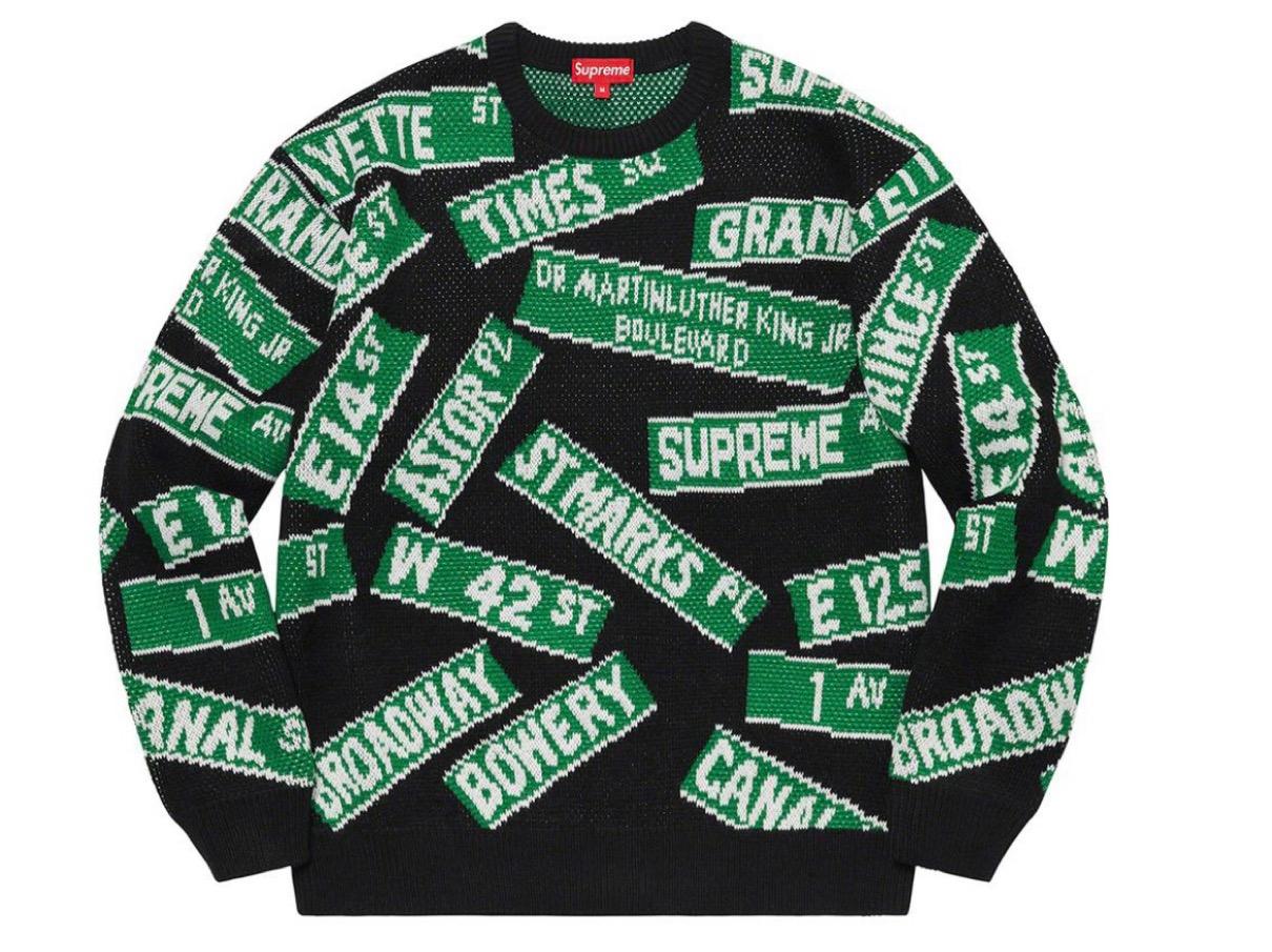 Street Signs Sweater シュプリーム 2021年 春夏 新作 Supreme-2021ss-week-1