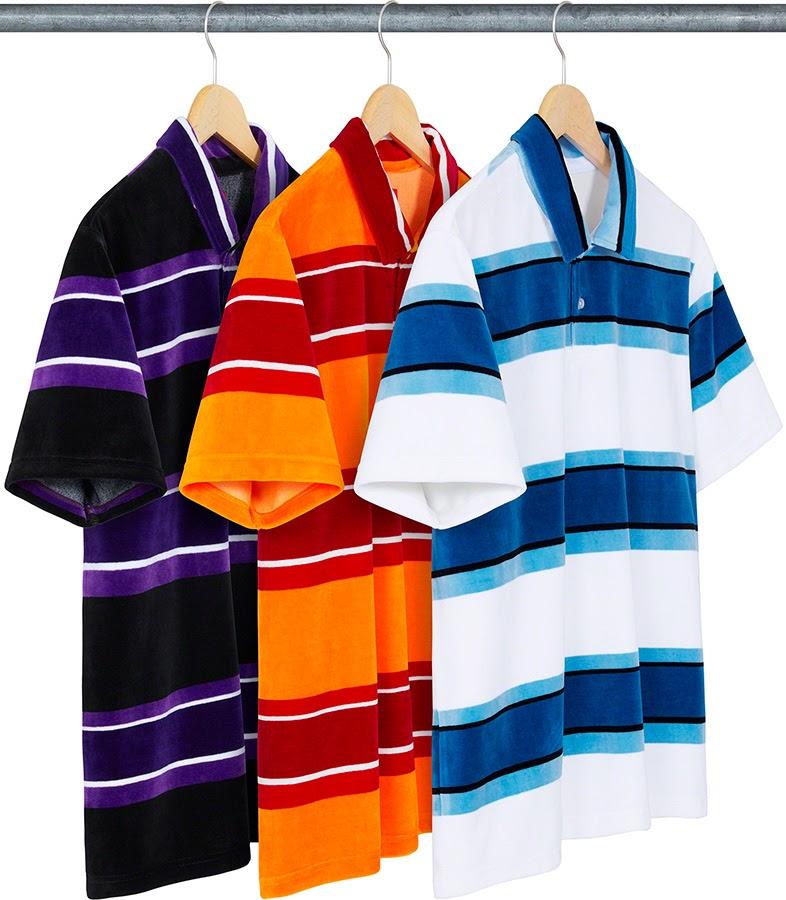 Stripe Velour Polo シュプリーム 2021年 春夏 新作 Supreme-2021ss tops, sweateshirts 一覧