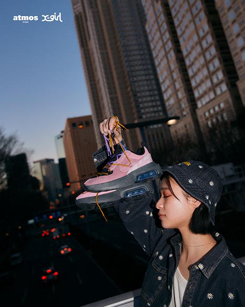 エックス ガール × アトモス ピンク ナイキ エア マックス ビバ 全2色 x-girl-atmos-pink-nike-air-max-viva-look-3