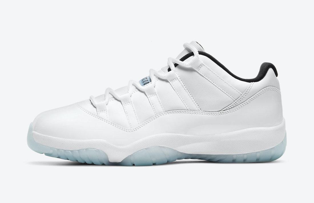 """Nike Air Jordan 11 Low """"Legend Blue"""" White/White-Black-Legend Blue AV2187-117 main pair"""