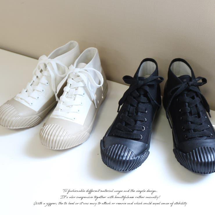 アミアミ ラバーソールスニーカー ブラック ホワイト 黒 白 スニーカー AmiAmi rubber sole sneakers white black 2 colors