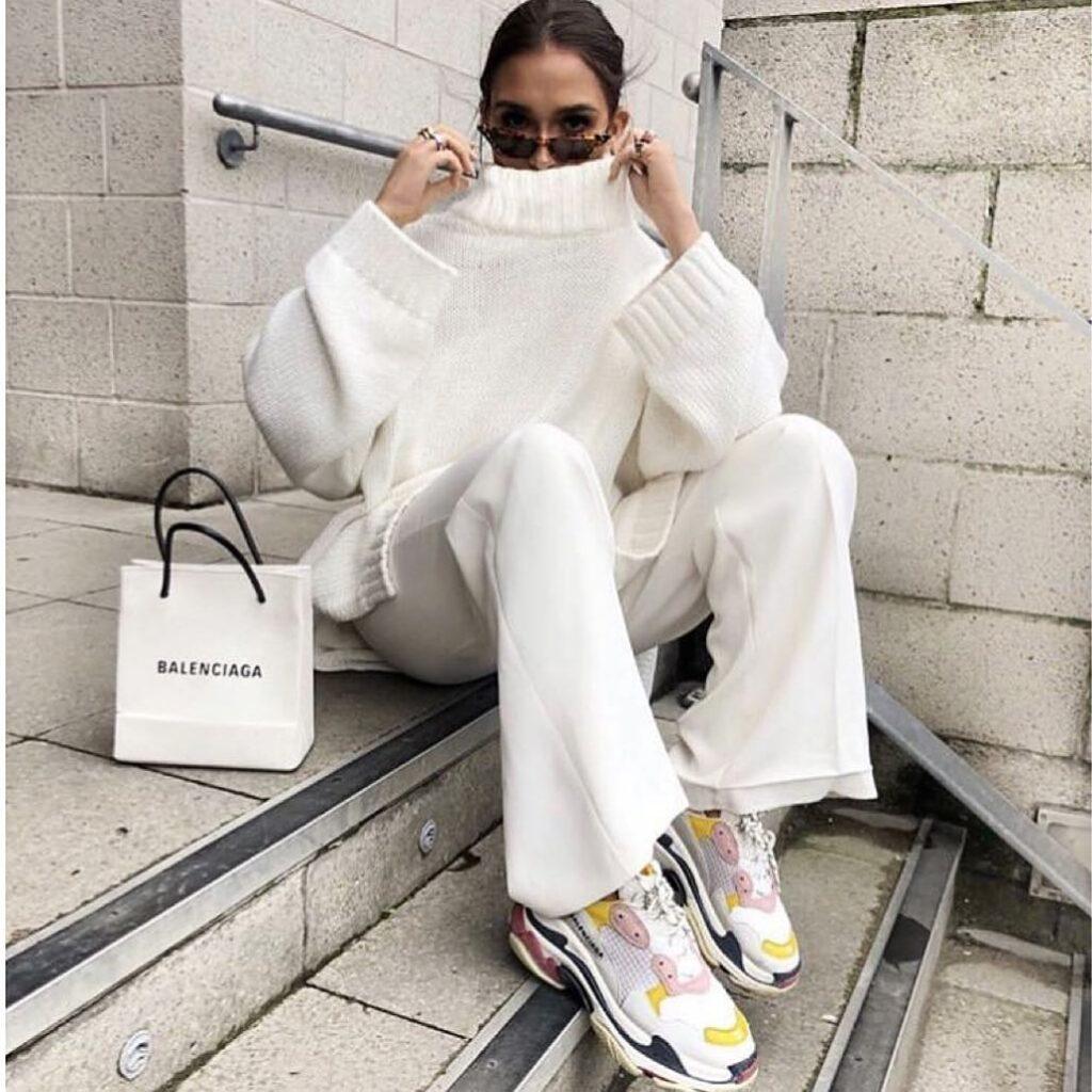 バレンシアガ トリプル S ホワイト コーディネート Balenciaga Triple S White Coodinate