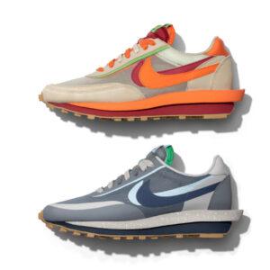 クロット サカイ ナイキ コラボ LD ワッフル 2色 CLOT x sacai x Nike LD Waffle Navy Orange 2 colors