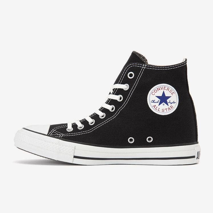 コンバース オールスター インヒール ハイ ブラック Converse All Star Inheel Hi Black White